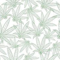 nahtloses Muster von Marihuana-Blättern vektor