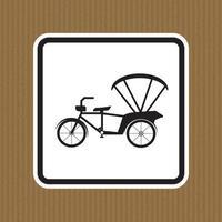Vorsicht Dreirad Symbol Zeichen Isolat auf weißem Hintergrund, Vektor-Illustration eps.10 vektor