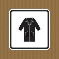 ppe icon.wear Kittel Symbol Zeichen isolieren auf weißem Hintergrund, Vektor-Illustration eps.10 vektor