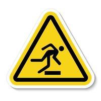 Vorsicht Hindernisse Symbol Zeichen isolieren auf weißem Hintergrund, Vektor-Illustration vektor