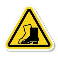 Symbol tragen Fußschutzzeichen isolieren auf weißem Hintergrund, Vektorillustration eps.10 vektor