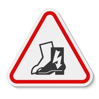 Symbol tragen elektrische Schuhe Zeichen isolieren auf weißem Hintergrund, Vektor-Illustration eps.10 vektor