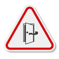 Tür geschlossen halten Symbol Zeichen isolieren auf weißem Hintergrund, Vektor-Illustration eps.10