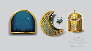 Ramadan Kareem Design mit goldener arabischer Lampe. Vektorillustration. vektor