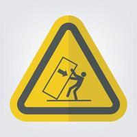 Körper Quetschspitze über Gefahrensymbolzeichen isolieren auf weißem Hintergrund, Vektorillustration eps.10 vektor