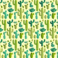 Vektor-Hand gezeichnetes Kaktus-Muster vektor