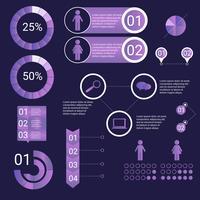 Ultraviolett Infographic Elements vektor