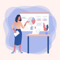 Berufsfrauen-Vektor vektor