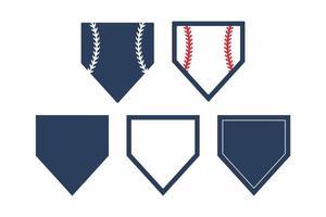 Hauptplatte Baseball Textfeld isoliert auf weißem Hintergrund eingestellt vektor