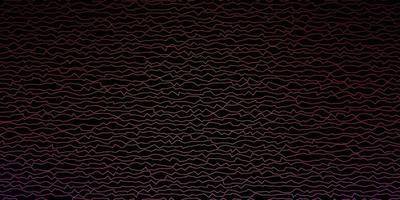 dunkelrosa, gelbes Vektorlayout mit schiefen Linien. vektor