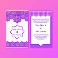 Süßer islamischer Art-Einladungs-Schablonen-Vektor