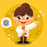 Kvinna Scientist Vector