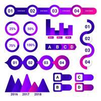 Ultraviolet Infographik Element Vektor