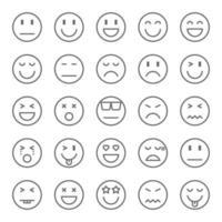 emoji ikonuppsättning vektor