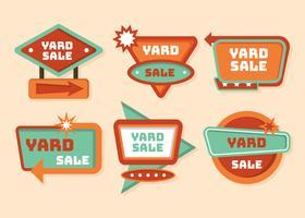 Yard-Verkaufs-Zeichen-Vektor