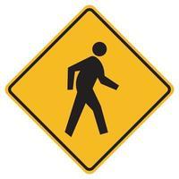 Warnschild für Fußgängerüberweg vektor