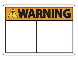 Symbol Warnschild Etikett auf weißem Hintergrund vektor