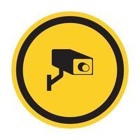 CCTV-Überwachungskamera-Symbolzeichen, Vektorillustration, isolieren auf weißem Hintergrundetikett .eps10 vektor
