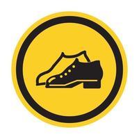 Symbol beiliegende Schuhe sind im Herstellungsbereich Zeichen Isolat auf weißem Hintergrund erforderlich, Vektor-Illustration eps.10 vektor