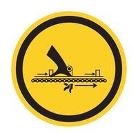 Warnung bewegliches Teil verursachen Verletzungssymbol, Vektorillustration, isolieren auf weißem Hintergrundetikett. eps10 vektor