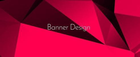 abstrakte elegante geometrische dekorative Design Banner Hintergrund vektor