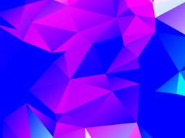 abstrakter bunter dreieckiger geometrischer Kristallhintergrund vektor