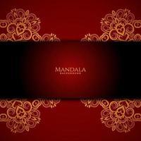 vacker mandala design modern dekorativ lyx bakgrund vektor
