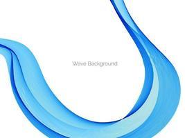 abstrakter glatter stilvoller blauer Wellenhintergrund vektor