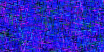 mörkrosa, blå vektormall med upprepade pinnar. vektor