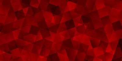ljusröd vektorbakgrund med trianglar, kuber. vektor