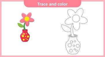 Spuren und Farbe Blumenvase vektor