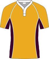 getäfelte Rugby-Trikots Mock-Ups vektor