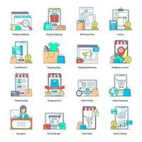 Online-Shopping und -Einkauf vektor