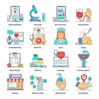 Krankenhaus und Gesundheitswesen vektor