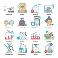 medizinische, Krankenhaus- und Körperpflege vektor