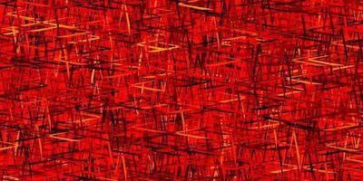 mörk orange vektor mönster med skarpa linjer.