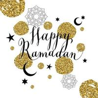 glückliche Ramadanillustration mit Feier Symbol des Ramadan. vektor