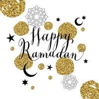 lycklig ramadanillustration med firande symbol för ramadan. vektor