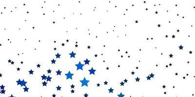 dunkelblaues, grünes Vektormuster mit abstrakten Sternen. vektor