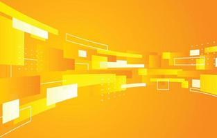 fließender gelber Rechteckhintergrund vektor