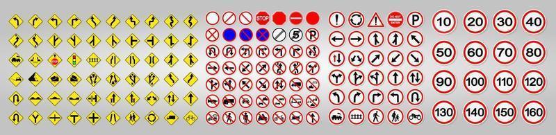 Warnverkehrszeichen, Verbot, rotes Kreissymbolzeichen setzen vektor
