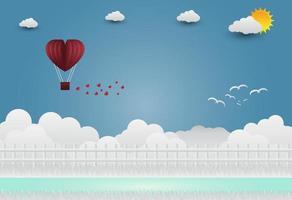 illustration av kärlek och alla hjärtans dag, stående hand i hand, visar kärlek till varandra. vektor