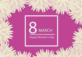 8. März Feiertagshintergrund mit Papierschnittrahmenblumen. schönen Muttertag. trendige Designvorlage. Vektorillustration. vektor