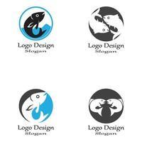 Fisch-Logo-Vorlage. kreatives Vektorsymbol vektor