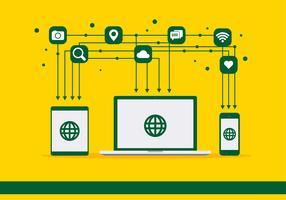 Social Media Icons Vektor synchronisieren