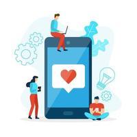 Handy wie mit Herz vektor