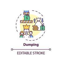 Dumping-Konzept-Symbol vektor
