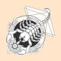 skorpion tatuering vektor