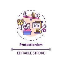 protektionism koncept ikon vektor
