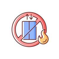 använd inte hiss rgb färgikonen vektor